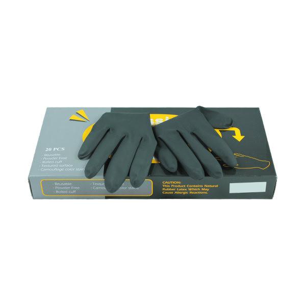 Comair Friseurbedarf Latexhandschuhe schwarz - Medium - Packung