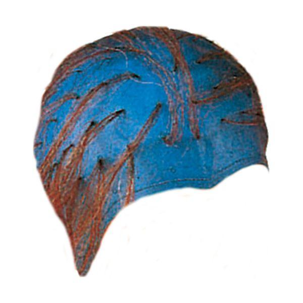 Efalock Strähnenhaube aus Gummi blau und gelocht