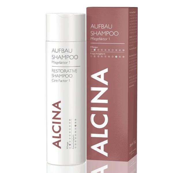 alcina aufbau shampoo pflegefaktor 1 f r trockenes haar trockenes haar alcina marken. Black Bedroom Furniture Sets. Home Design Ideas