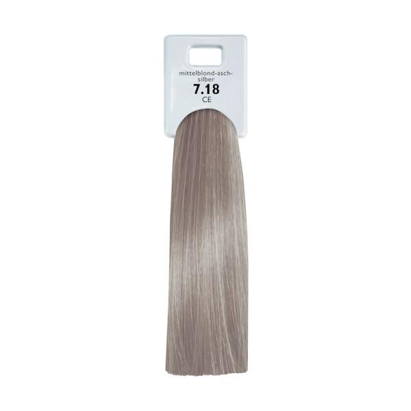 Alcina Color Gloss + Care Emulsion 7.18 Mittelblond Asch Silber