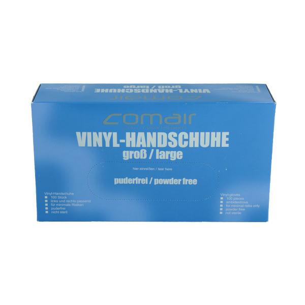 Comair Friseurbedarf Handschuhe aus Vinyl transparent - Groß