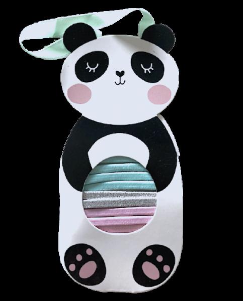 Parsa Haarschmuck Kids Haargummis Farb-Mix Panda 10 Stk., No. 078079