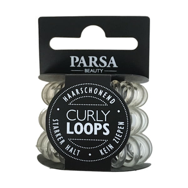 Parsa Haarschmuck Transparent Curly Loop klein, No. 31946