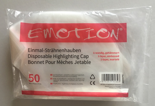 Efalock Emotion Einmal Strähnenhauben 1-wandig gehämmert, Packung